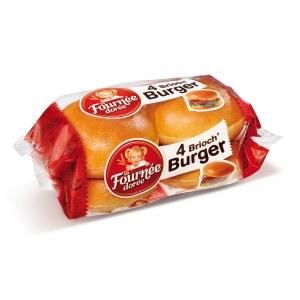 Brioch'burger, Fournée Dorée (x4, 250 g)