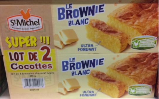Brownie chocolat blanc, St Michel LOT DE 2 (2 x 240 g)