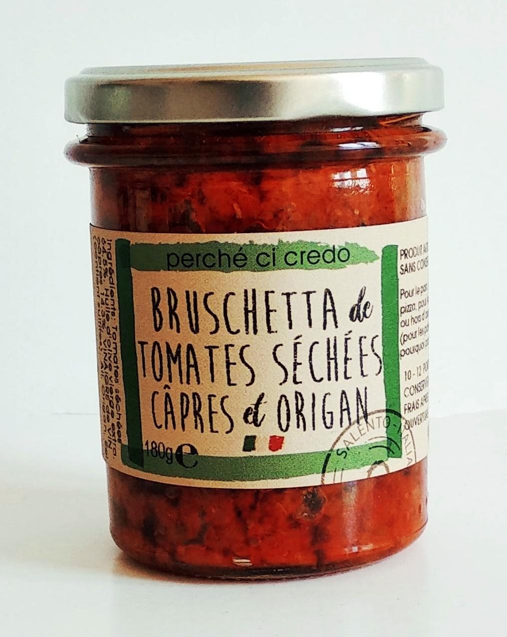 Bruschetta tomates séchées, câpres et origan, Perche Ci Credo (180 g)