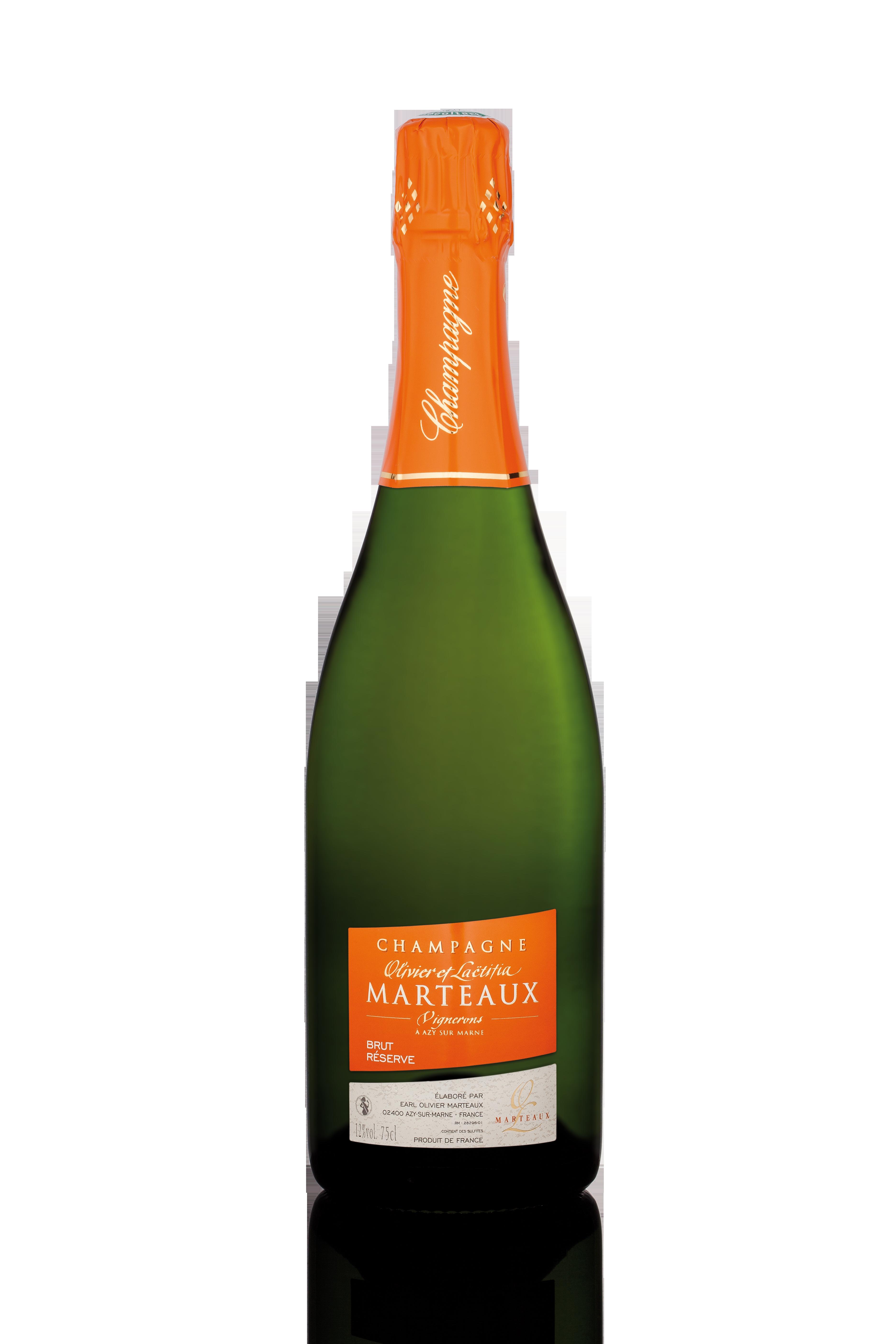 Caisse de 6 champagnes Brut Réserve, Olivier et Laetitia Marteaux (75 cl)