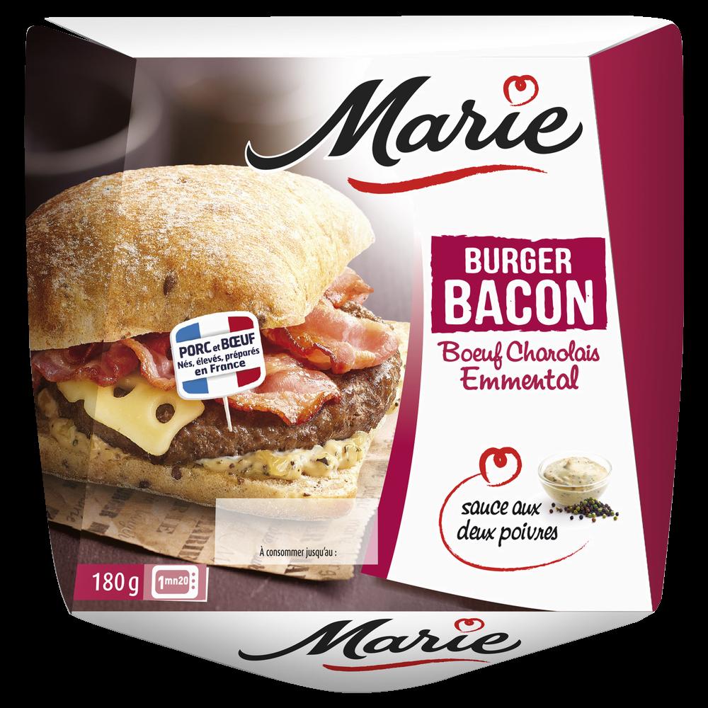 Burger charolais bacon emmental sauce 2 poivres, Marie (180 g)