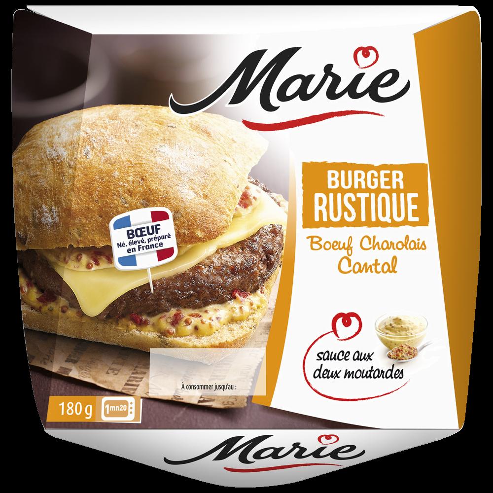 Burger charolais cantal sauce deux moutardes, Marie (180 g)
