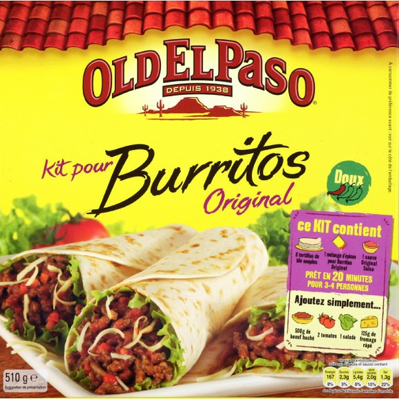 Kit pour burrito Original, Old El Paso (510 g)