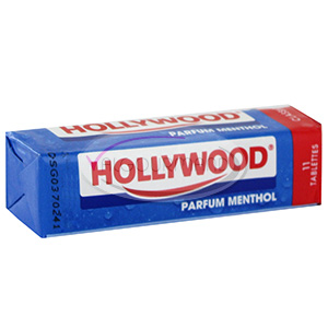 Chewing-gum Menthol, Hollywood (Etui de 11 tablettes)