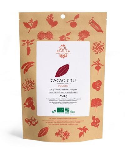 Cacao cru en poudre, Sol Semilla (250 g)