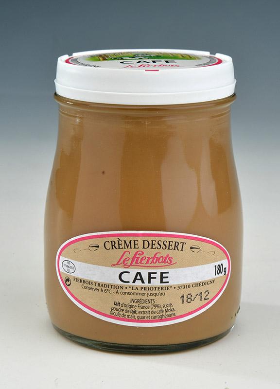 Crème dessert café, Fierbois (180 g)