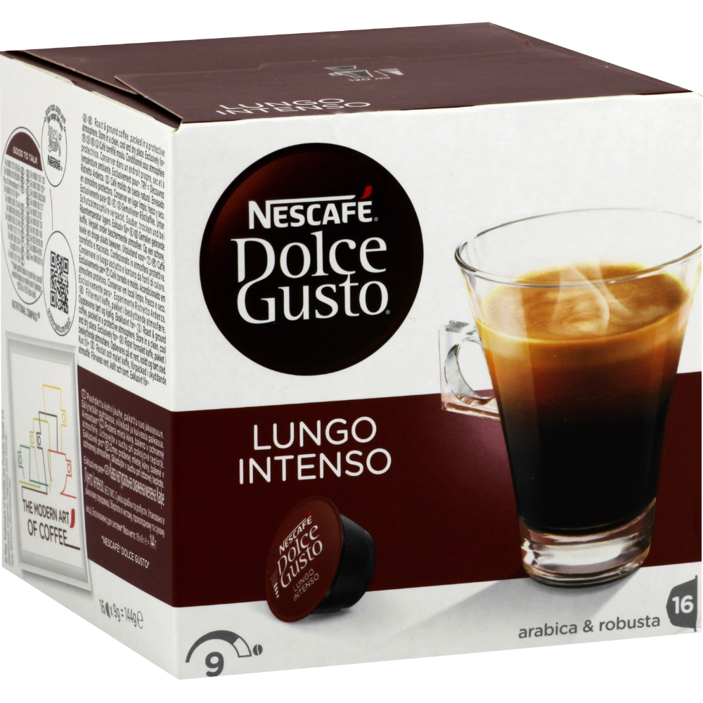 Café capsules Lungo Intenso, Dolce Gusto (x 16)