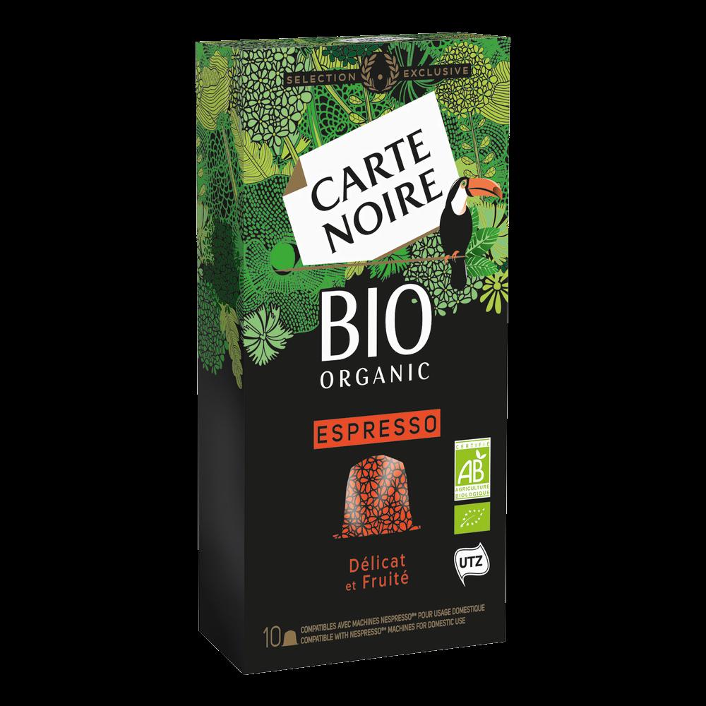 Café espresso délicat et fruité BIO, Carte Noire (x 10)