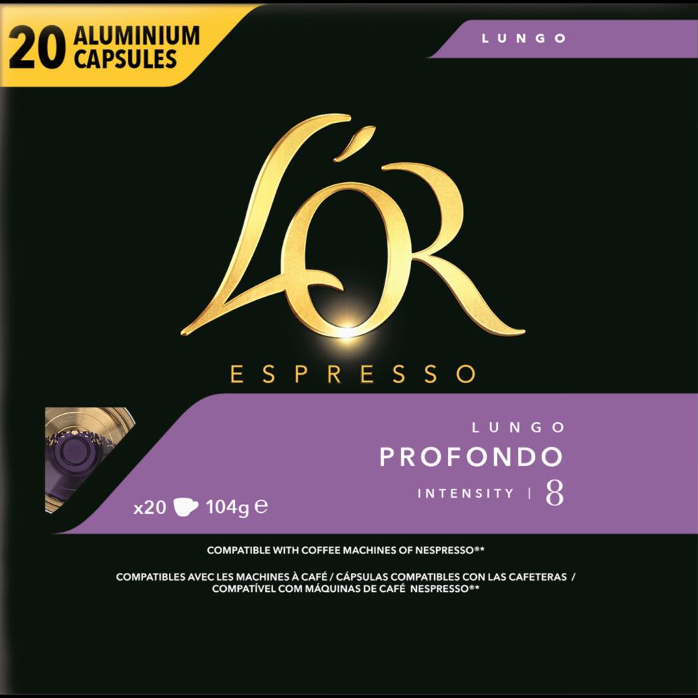 Café capsule lungo profondo n°8 L'Or Expresso (x 20)