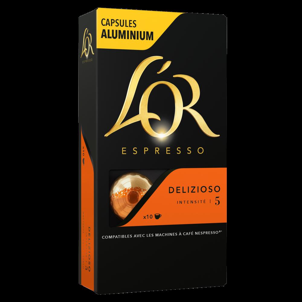 Café capsules delizioso, L'Or Espresso (x 10)