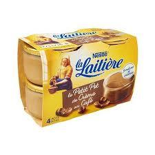 Petit Pot Crème au Café, La Laitière (4 x 100 g)