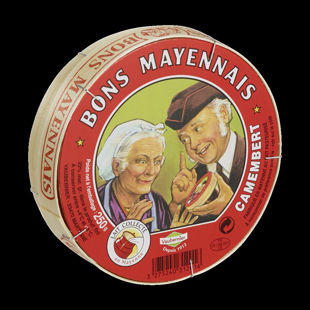 Camembert 22% MG, Bons Mayennais (250 g)