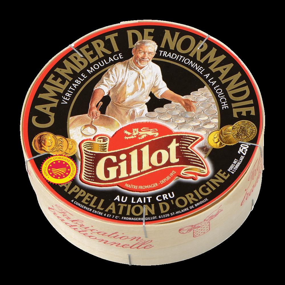 Camembert de Normandie au lait cru 22% MG, Gillot (250 g)