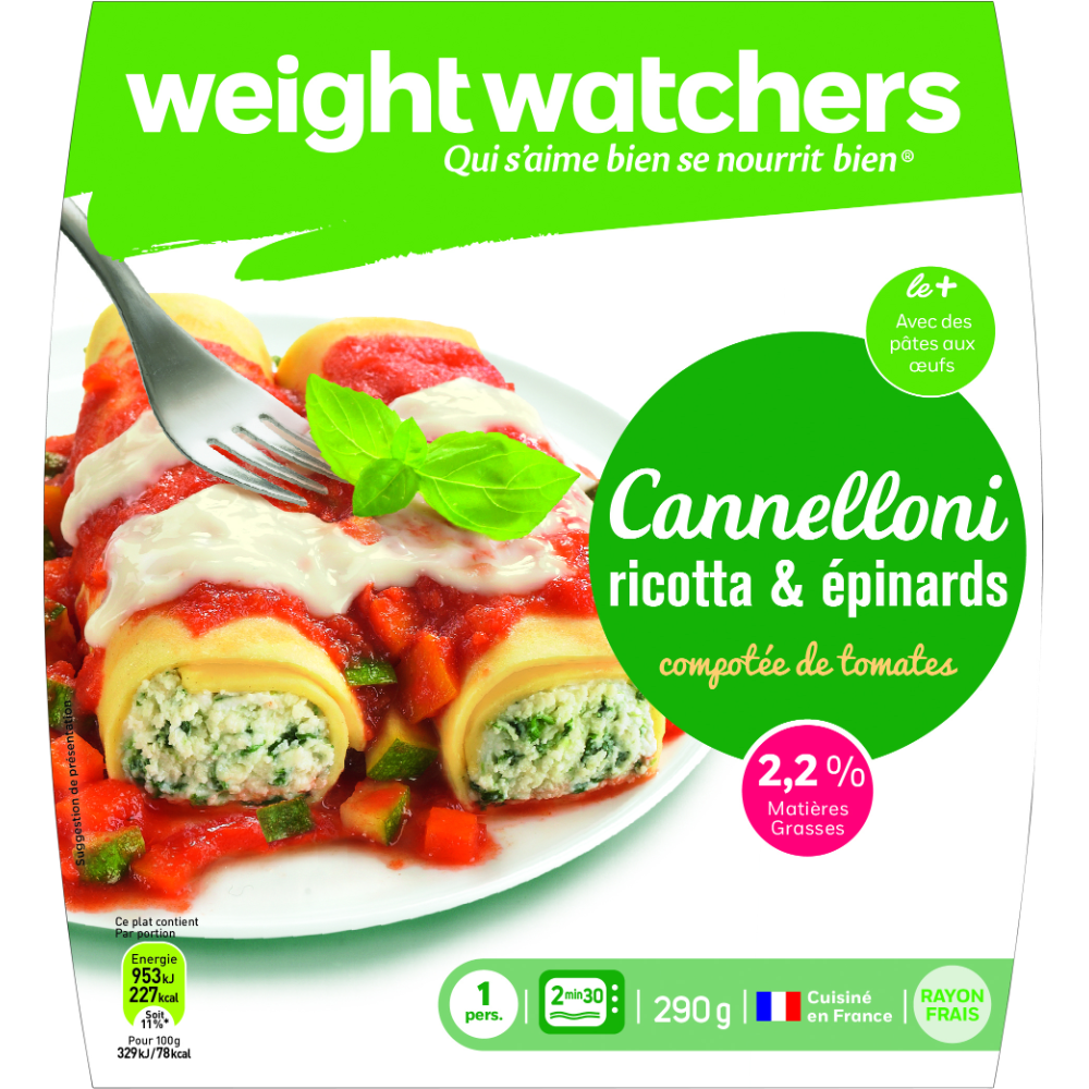 Cannelloni ricotta épinards, Weight Watchers (290 g)