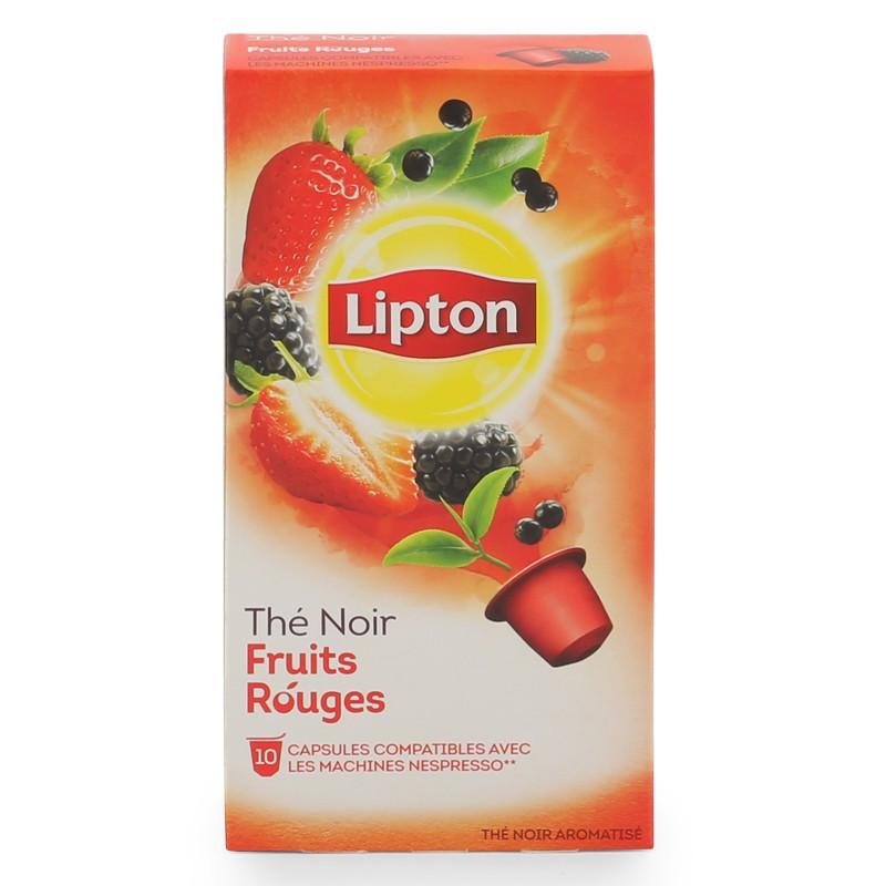 Thé noir aux fruits rouges, Lipton (10 capsules)
