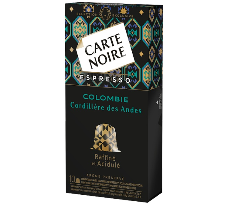 Café Capsules Colombie, Carte Noire (x 10)