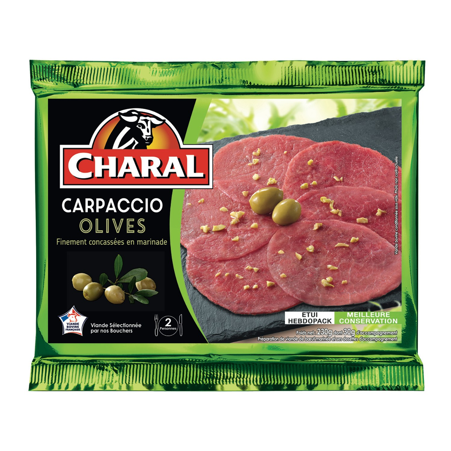 Carpaccio Olive, Charal (230 g)