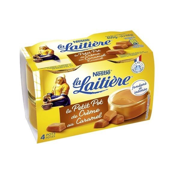 Petit pot de crème au caramel, La Laitière (4 x 100 g)