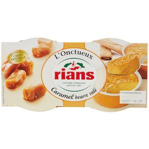 L'Onctueux au caramel beurre salé, Rians (2 x 90 g)