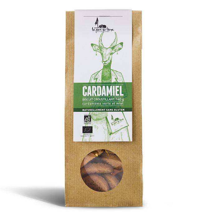 Biscuit croustillant cardamiel / sans gluten, La pierre qui tourne (140 g)