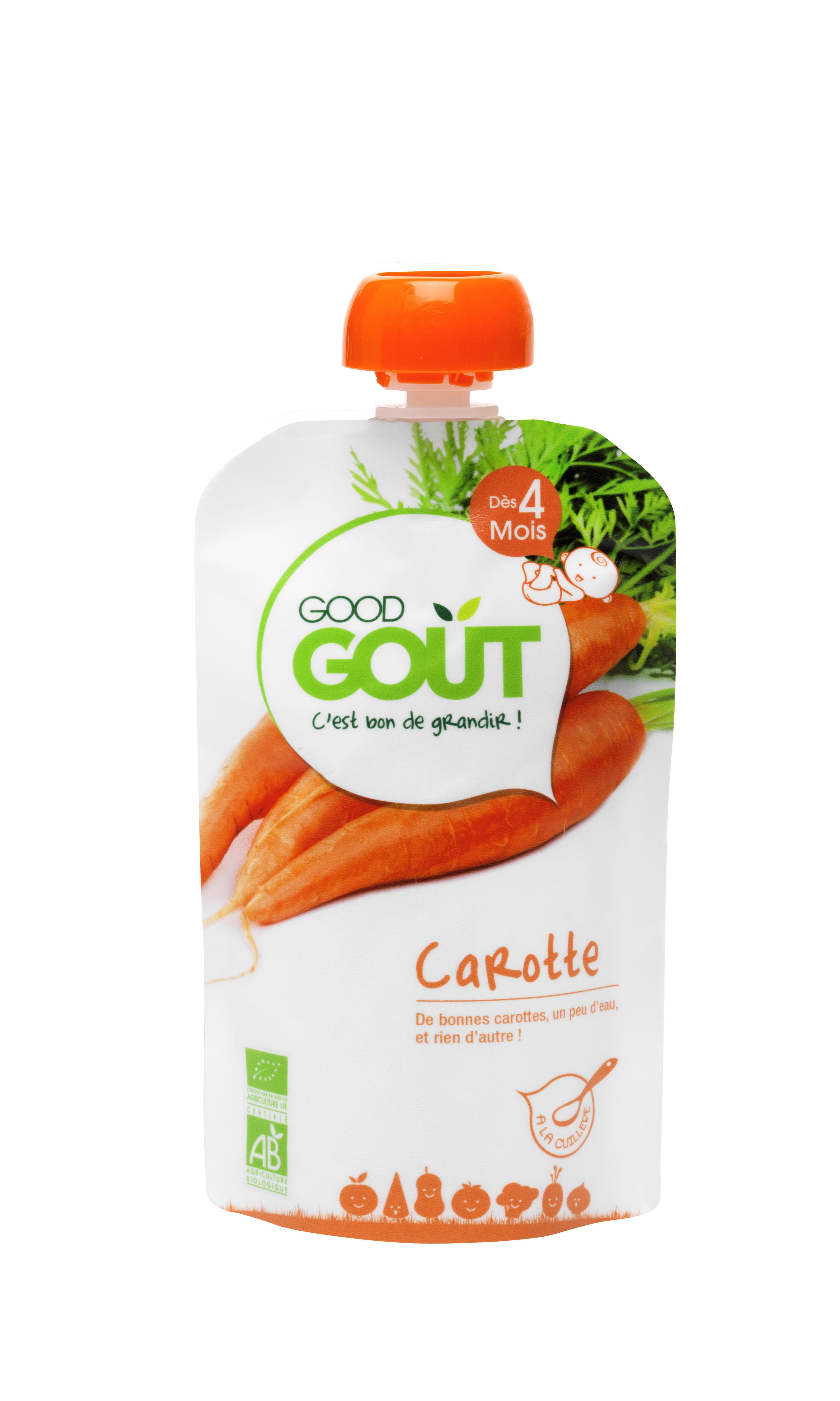Good Gourde Carotte BIO, Good Goût (120 g) - dès 4 mois