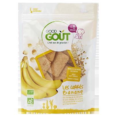 Carré banane BIO - Dès 8 mois, Good Goût (50 g)