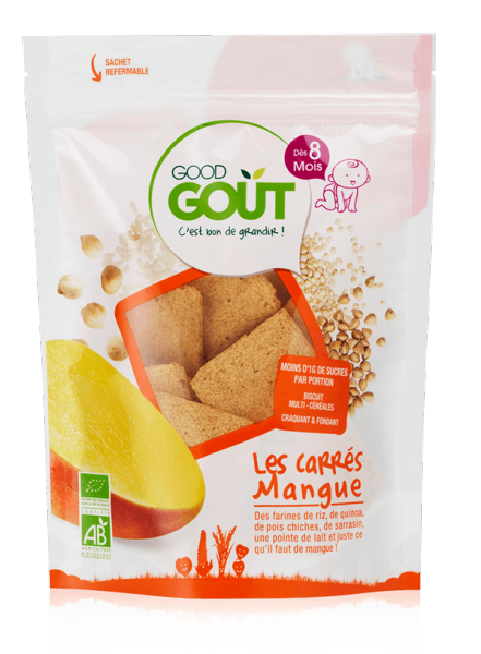 Carré mangue BIO - dès 8 mois, Good Goût (50 g)