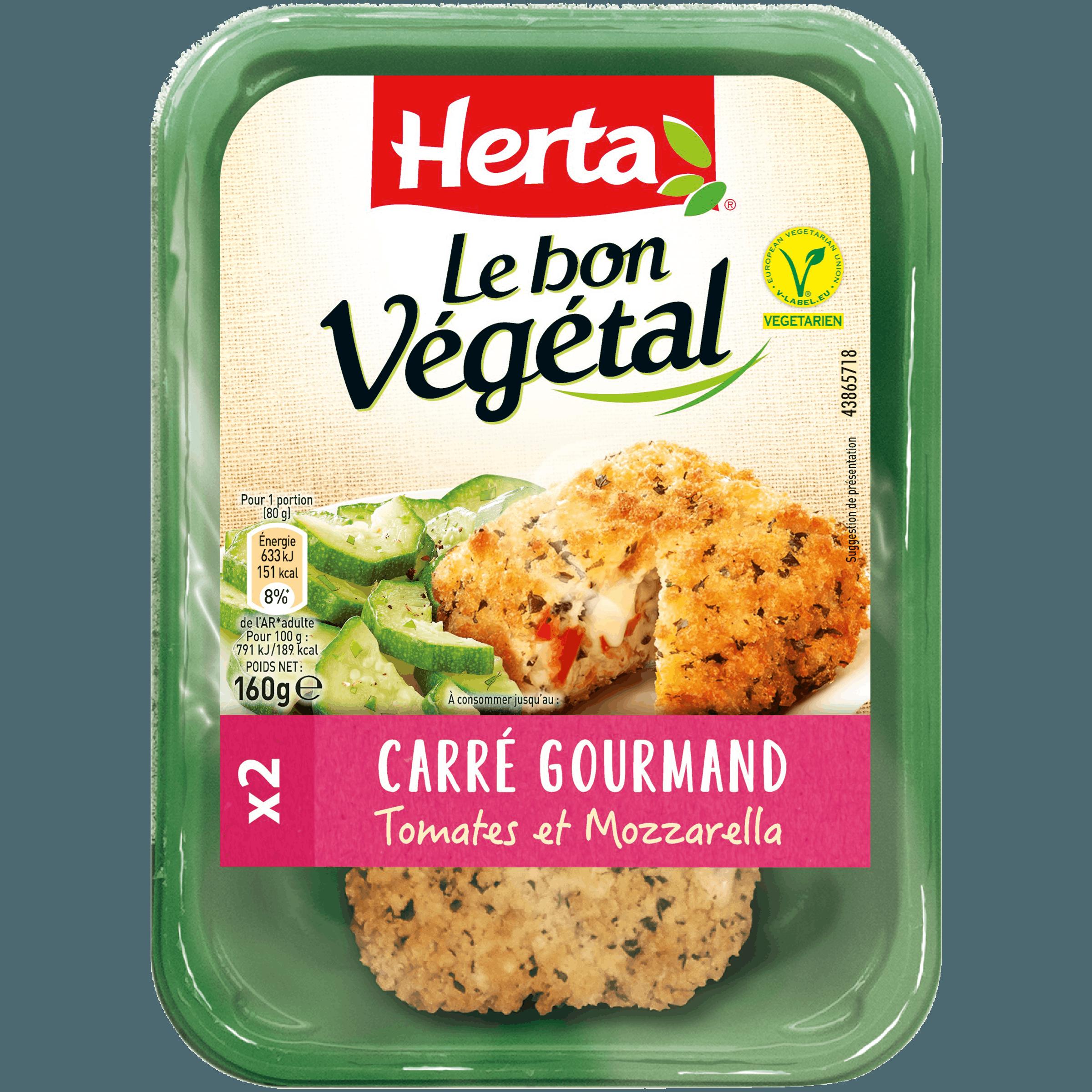 Carrés gourmands tomates mozzarella, Le Bon Végétal (160 g)