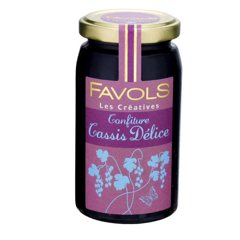 Confiture de cassis 100% fruits, Favols (250 g)
