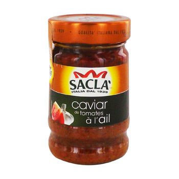 Caviar de tomates à l'ail, Sacla (190 g)