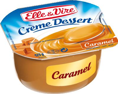 Crème dessert Caramel UHT, Elle & Vire (4 x 125 g)