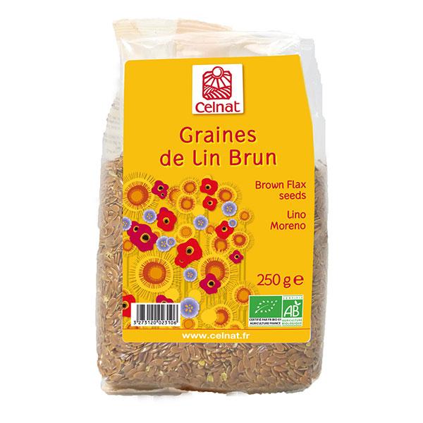 Graines de lin brun BIO, Celnat (250 g)