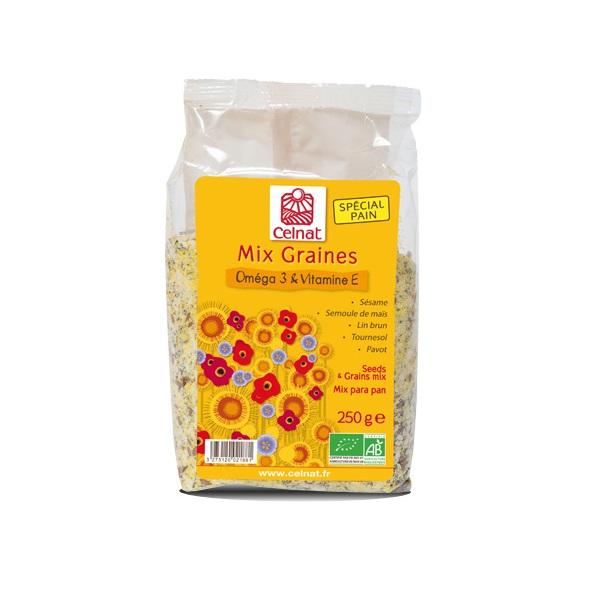 Mix graines omega 3 & vitamine E Bio, Celnat (250 g)
