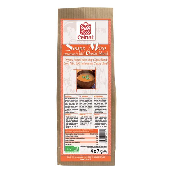 Soupe miso instantanée classic blend BIO, Celnat (28 g)