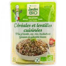 Céréales et lentilles cuisinées sans gluten BIO, Jardin Bio (250 g)