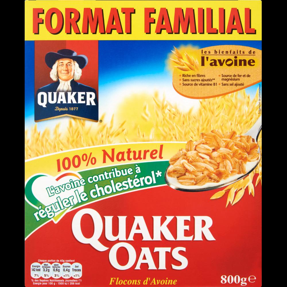 Céréales aux flocons d'avoine, Quaker (800 g)