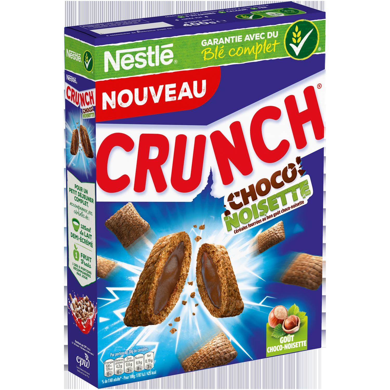Céréales choco-noisette Crunch, Nestlé (400 g)