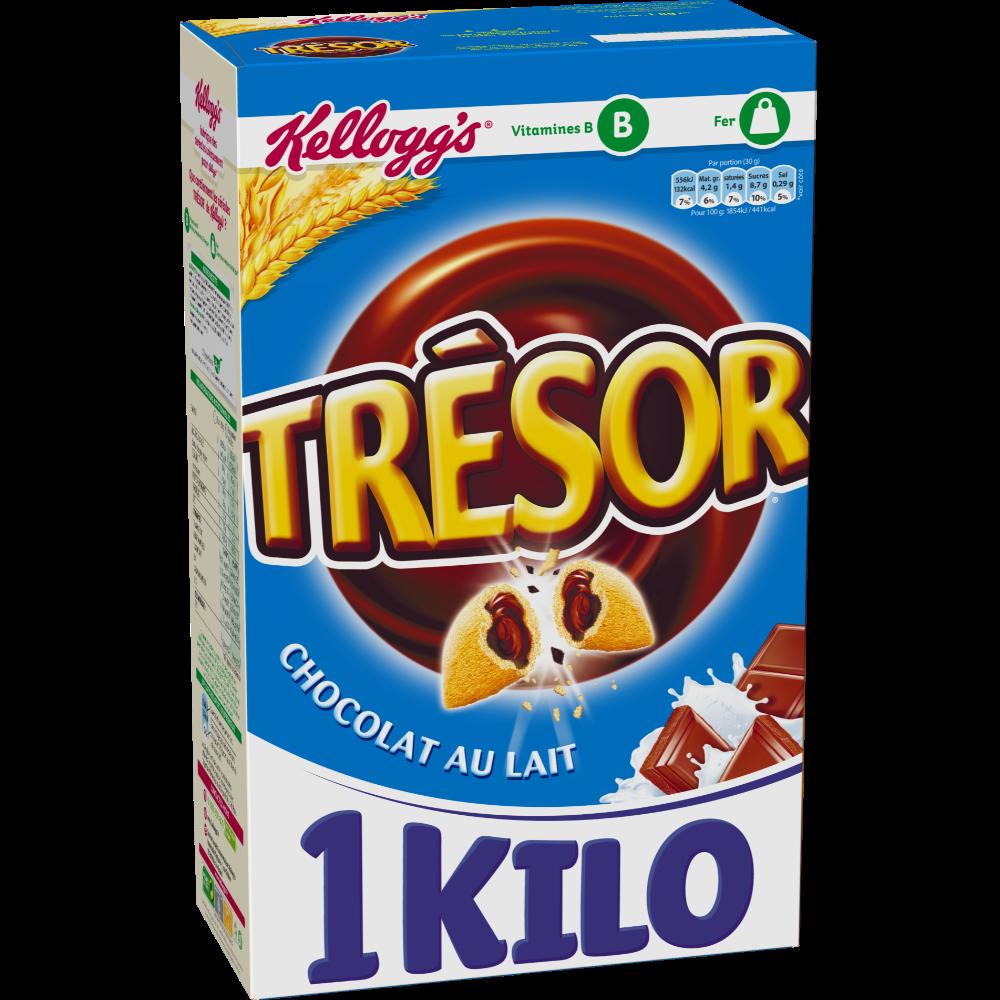 Céréales Trésor au chocolat au lait, Kellogg's (1 kg)