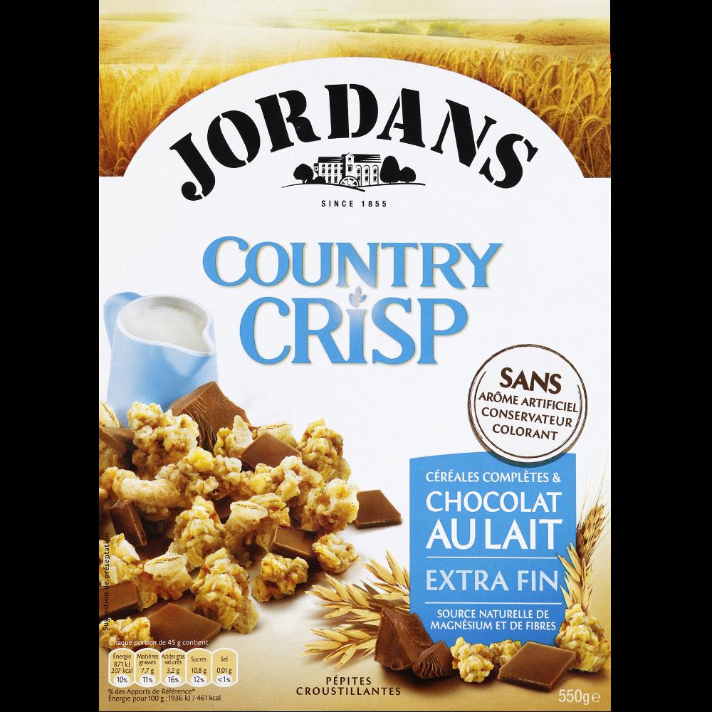 Country Crisp au chocolat au lait, Jordan's (550 g)
