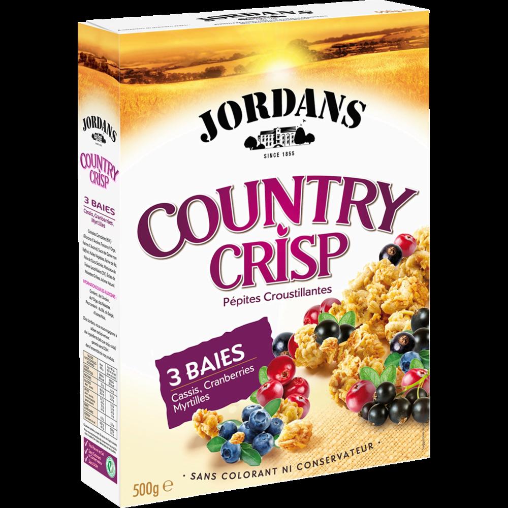 Country Crisp aux 3 baies, Jordan's (550 g)