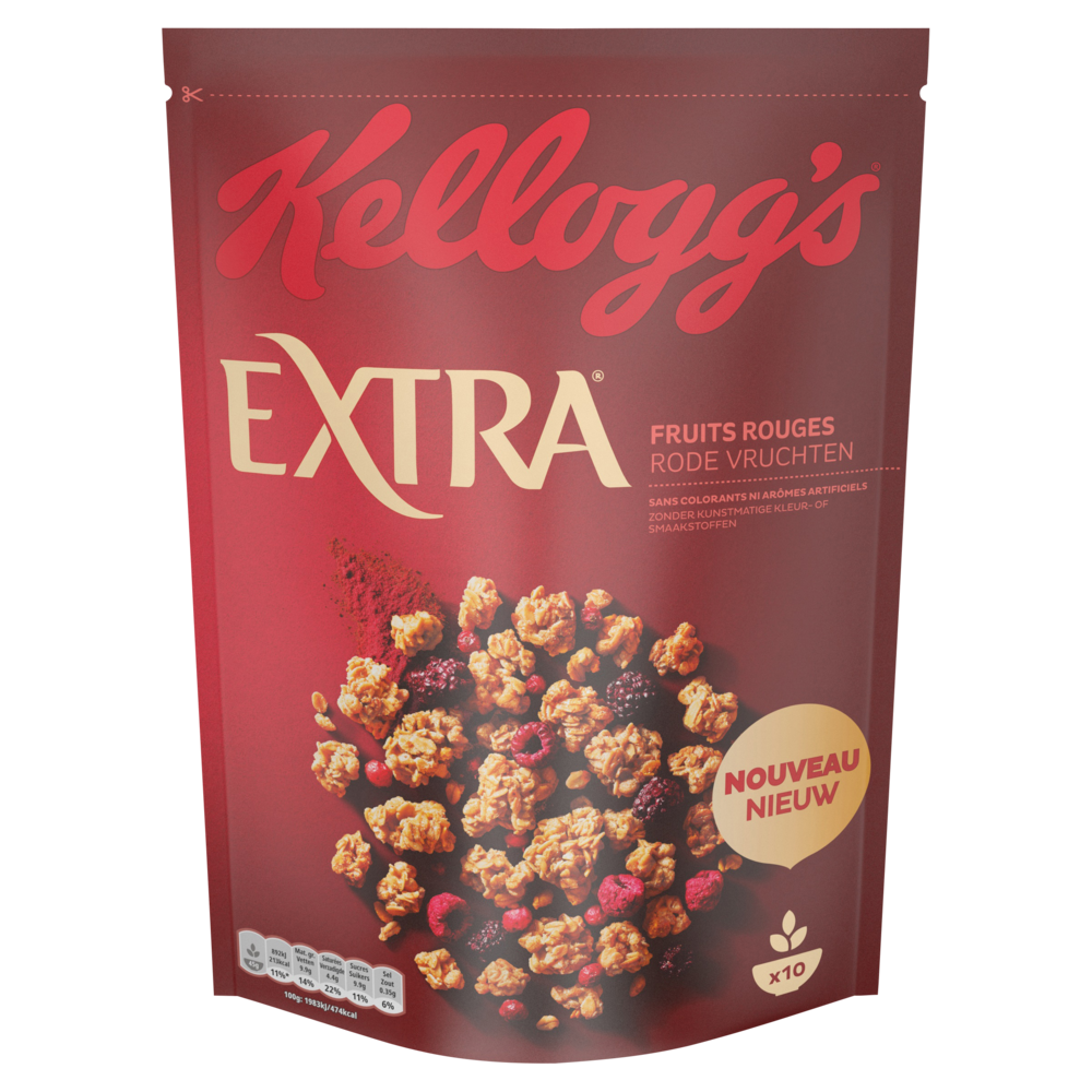 Extra fruits rouges, Kellogg's (450 g)