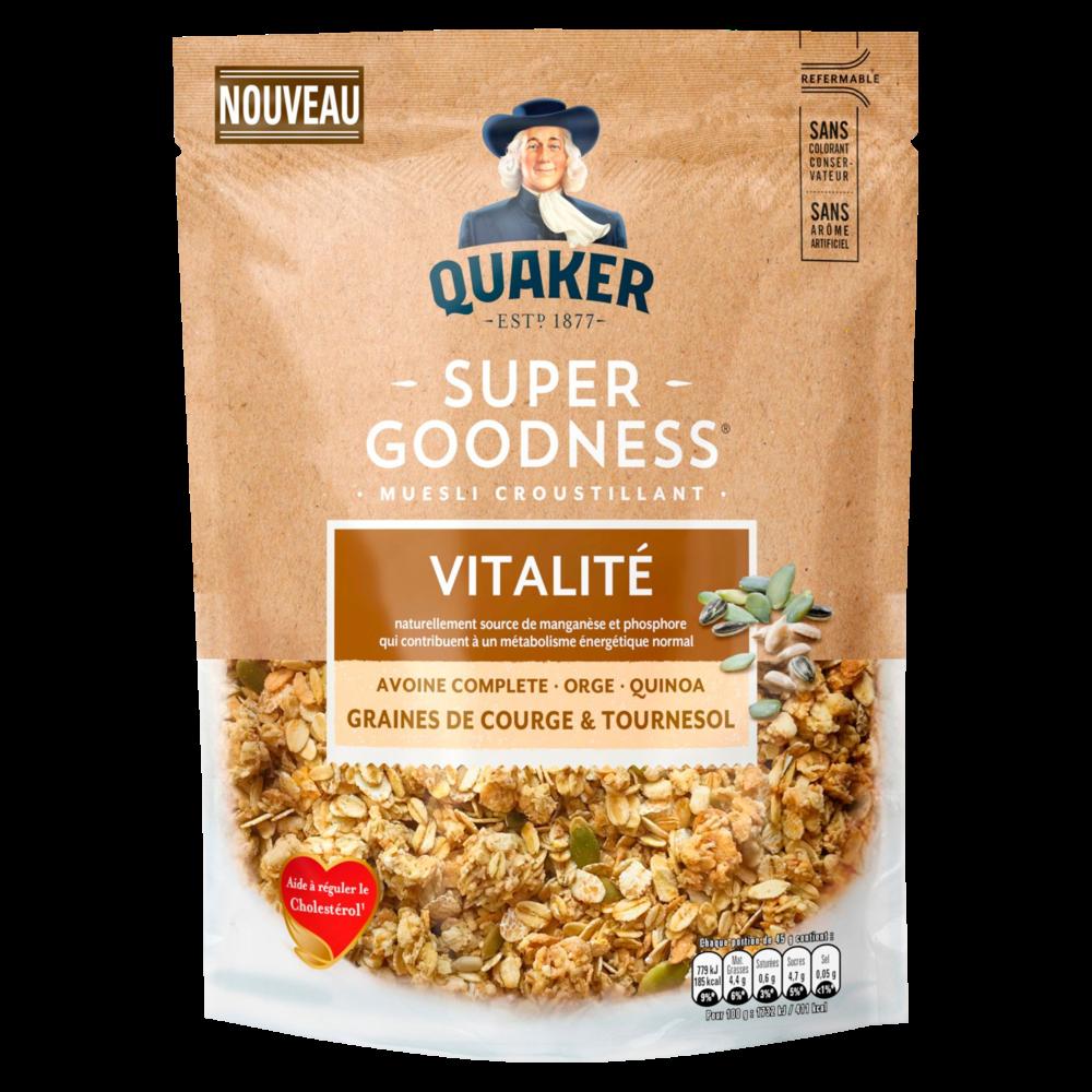 Céréales graines courges et tournesol, Quaker (400 g)