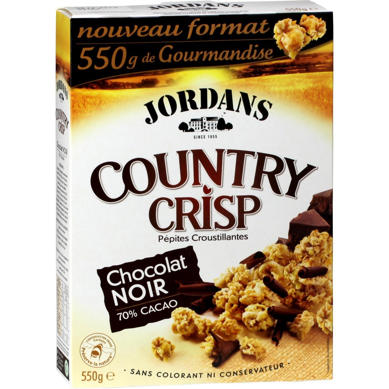 Country crisp chocolat noir, Jordans (550 g)