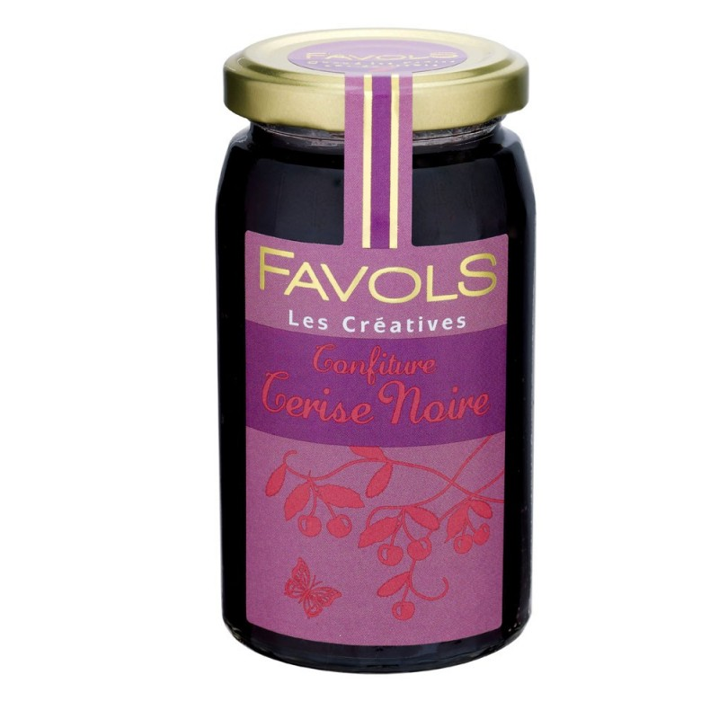 Confiture de cerise noire 100% fruits, Favols (250 g)