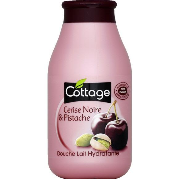 Douche lait Hydratante cerise noire/pistache, Cottage (250 ml)