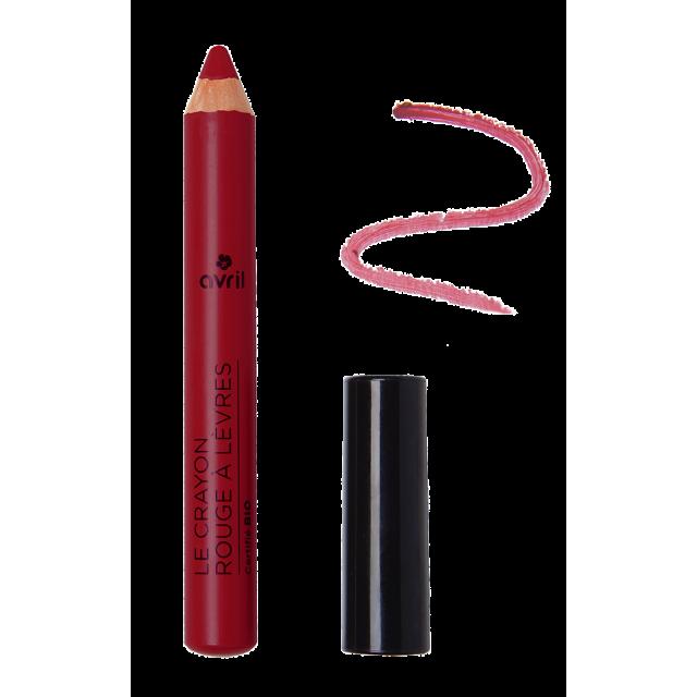 Crayon rouge à lèvres châtaigne certifié BIO, Avril (2 g)