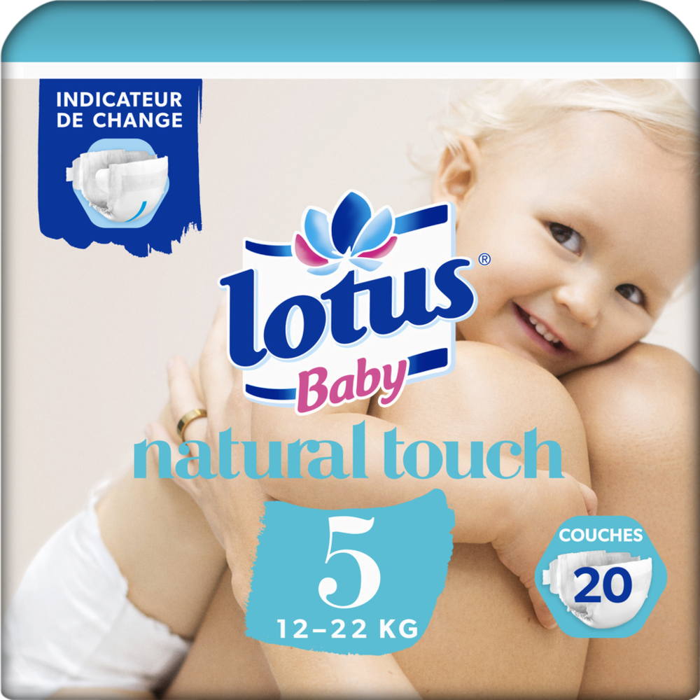 Couches natural touch T5 / 12-22 kg, Lotus Baby (x 20)