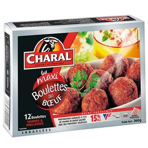 Boulettes de Boeuf, Charal surgelés (12 x 30 g)