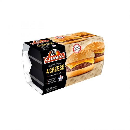Cheeseburger, Charal (4 x 145 g)