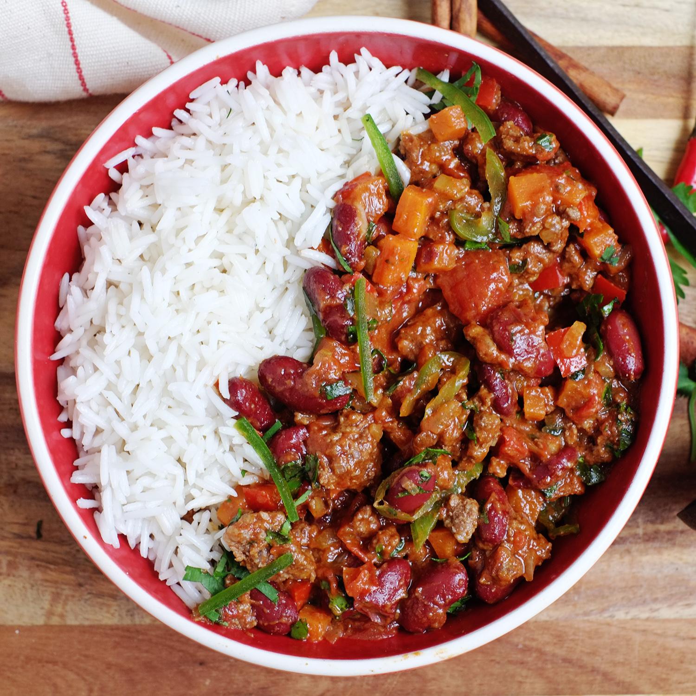 Chili con carne accompagné de riz basmati (460 g)
